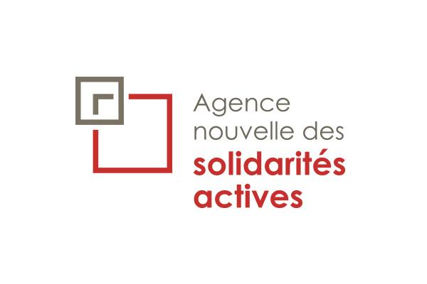 Logo de l'Agence nouvelle des solidarités actives. Cantines Responsables a remporté un appel à projet avec elle.